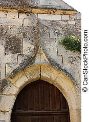 door of an old stone house