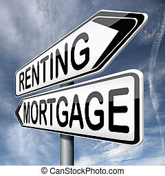 mortage or renting buy or rent house