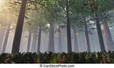 Deep Forest 1 - Deep Forest Fairy Tale Scene Fireflies 3D...