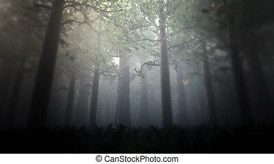 Deep Forest 4 - Deep Forest Fairy Tale Scene Fireflies 3D...