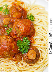 Meatballs with Spaghetti.