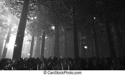 Deep Forest 8 - Deep Forest Fairy Tale Scene Fireflies 3D...
