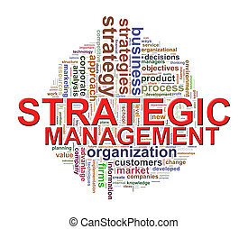Word tags of strategic management - Illustration of...