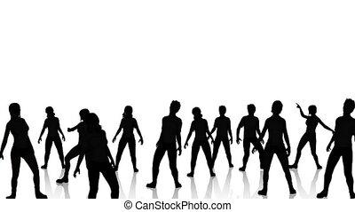 Dancers Silhouette 2 reflective dance floor