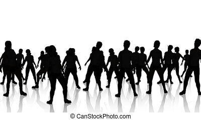 Dancers Silhouette 3 reflections