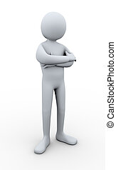 3d man posing - 3d Illustration of person standing in pose....