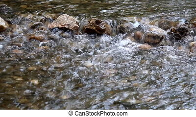 mountain creek with rocks