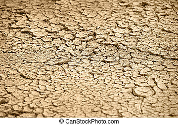Cracked dry earth - natural background