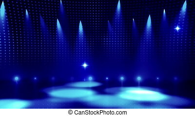 Disco Stage 7 - Disco Stage Dance Floor Colorful Vivid...