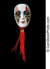 Venetian mask - Nice ceramic venetian mask hanging on dark...