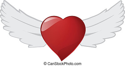 The heart wing, Vector File. - The heart wing file for your...