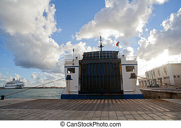 Ferry boat - View of the Entrance to the ferry boat