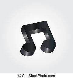 Black music symbol