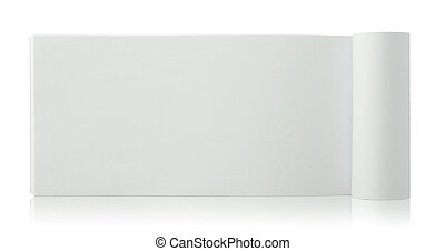blank notepad on reflect floor and white background