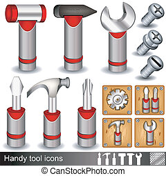 Handy tool icons - Collection of different handy tool...