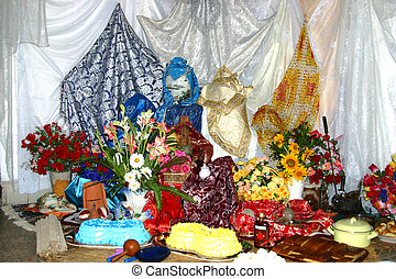 Santeria Altar Cuba - Santeria, also known as Regla de Ocha,...