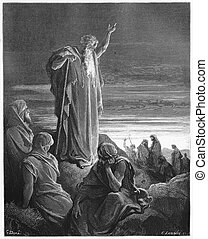 The Prophet Ezekiel - Picture from The Holy Scriptures, Old...