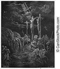 The Death of Jesus - Picture from The Holy Scriptures, Old...