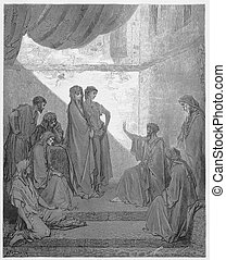 Peter in the House of Cornelius - Picture from The Holy...