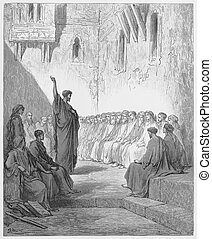 Paul Preaches to the Thessalonians - Picture from The Holy...