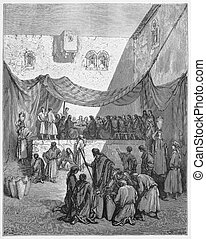 The Marriage In Cana - Picture from The Holy Scriptures, Old...