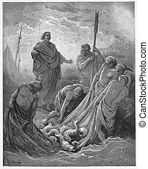 The Miraculous Catch of Fish - Picture from The Holy...