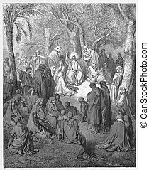 Jesus preaches the Sermon on the Mount - Picture from The...