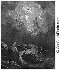 The Transfiguration - Picture from The Holy Scriptures, Old...