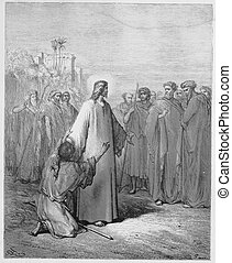 Jesus healing the demoniac boy - Picture from The Holy...
