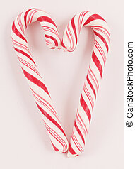 candy canes - Colorful candy canes as a heart