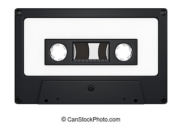 compact cassette - one compact cassette with white label for...