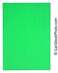 old green book cover isolated on white background with clipping path