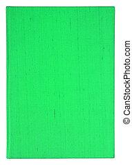 klippning, gammal, täcka, isolerat, bok, grön, bakgrund, bana, vit