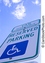Handicap Parking - A parking space for those people who are...