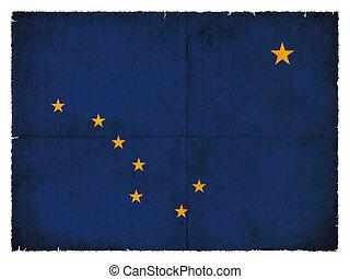 Grunge flag of Alaska (USA)