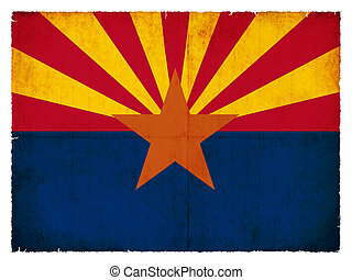Grunge flag of Arizona (USA) - Flag of the US state Arizona...