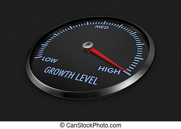 speedometer - growth level - speedometer with growth level,...