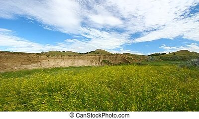Sage Creek Grassland Badlands NP - Grassland scenery at Sage...