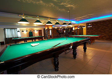 night club - Billiard tables in a fashionable night club