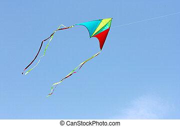 color kite in the sky