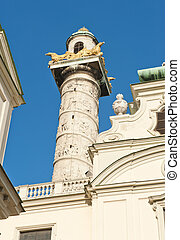 Column in Vienna - Detail of a beautiful ornamental column...