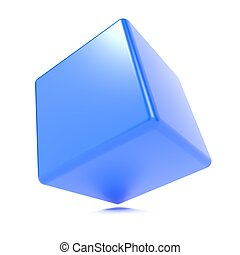 3d cube isolated on white