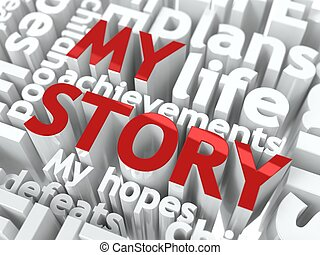 My Story - Text of Red Color - My Story - Text of Red Color,...