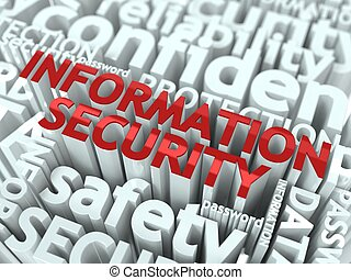 Information Security Concept Inscription of Red Color...