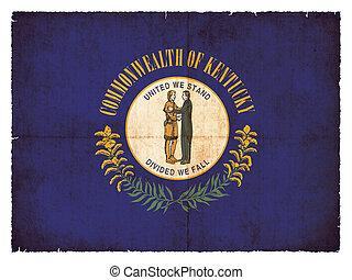 Grunge flag of Kentucky (USA)