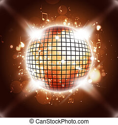 Disco Ball Calls You All - disco ball music background for...