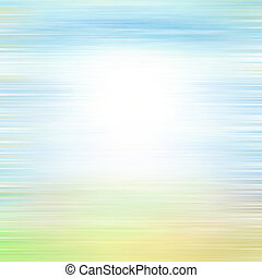 Old canvas: white, blue, and green patterns on abstract...