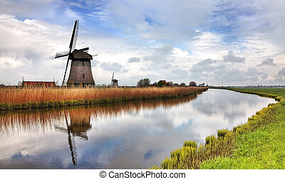 Traditional Dutch Windmill - Image of a traditional Dutch...