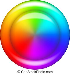 Rainbow button circle - Rainbow circle button or background...