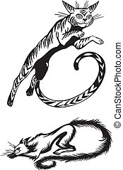 Stylized Cats - elegance and graceful cats - Stylized Cats -...